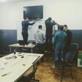Ucionica 4 postavljanje TV-a i instalacija