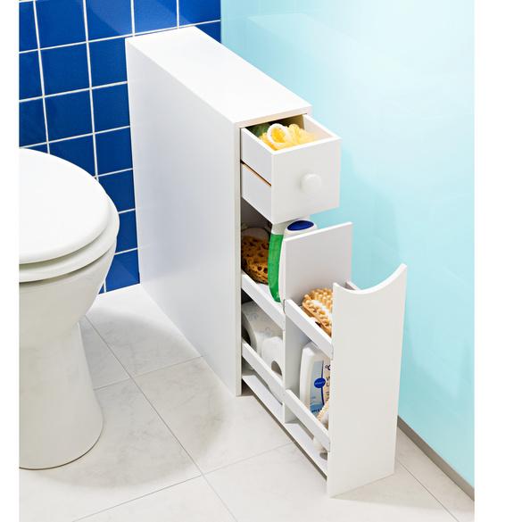 rangement de salle de bains blanc