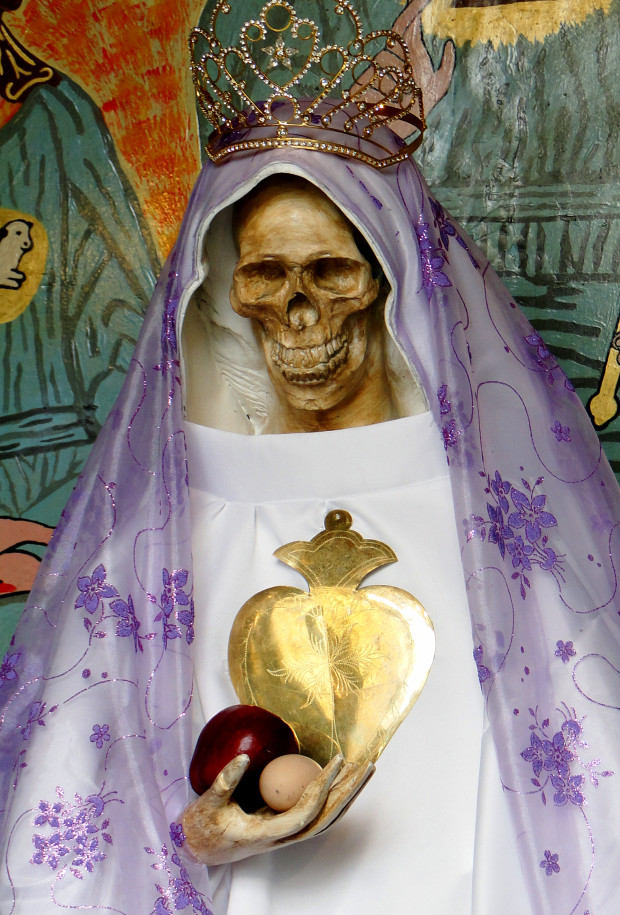 Inside the Mexico's shrine of Santa Muerte (Holy Death)