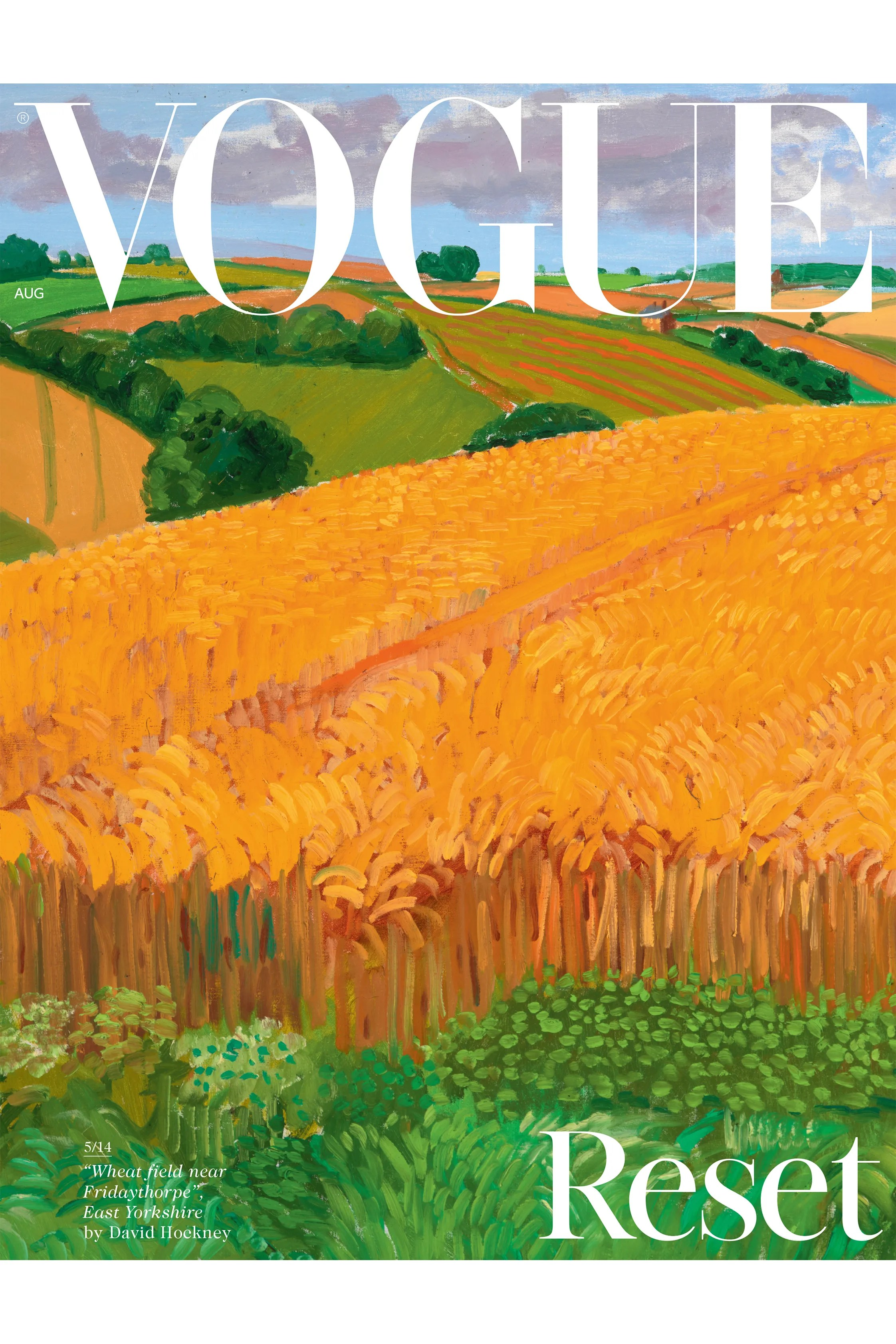 David Hockney Painting Is First Of 14 Landscapes For British Vogue S August Covers