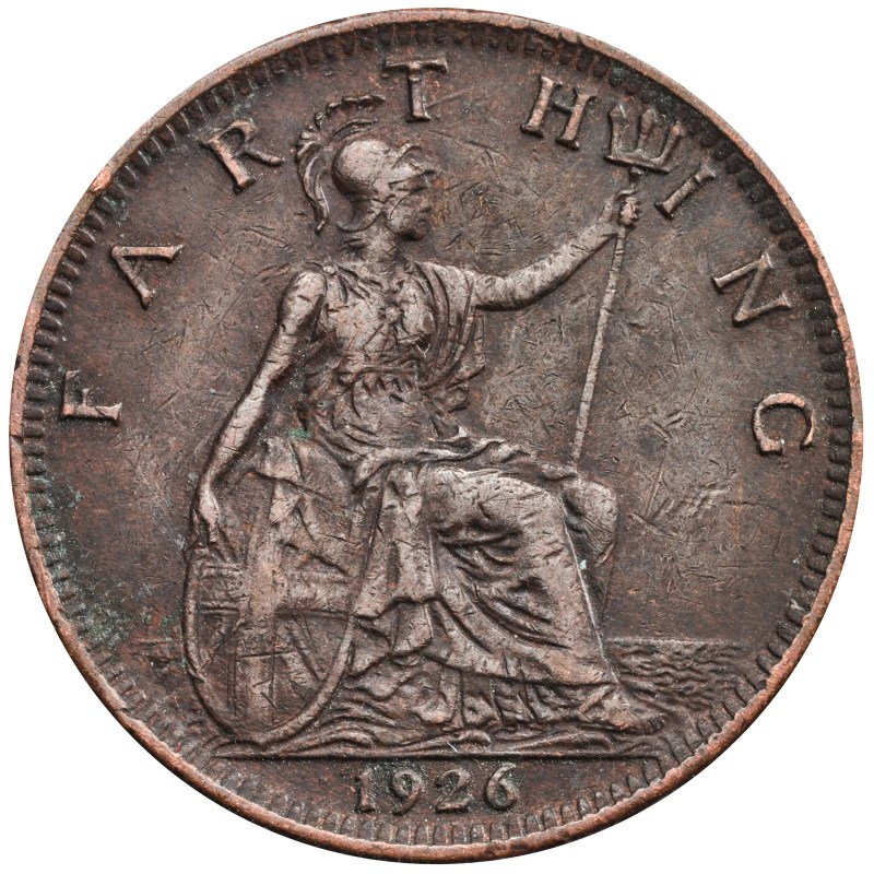 Britannia seen on a 1926 farthing has remained untouched for decades.