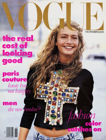Anna Wintour's first ever Vogue cover (November 1988)