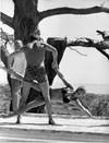 Alain Delon et Romy Schneider pendant le tournage de La Piscine de Jacques Deray en 1968