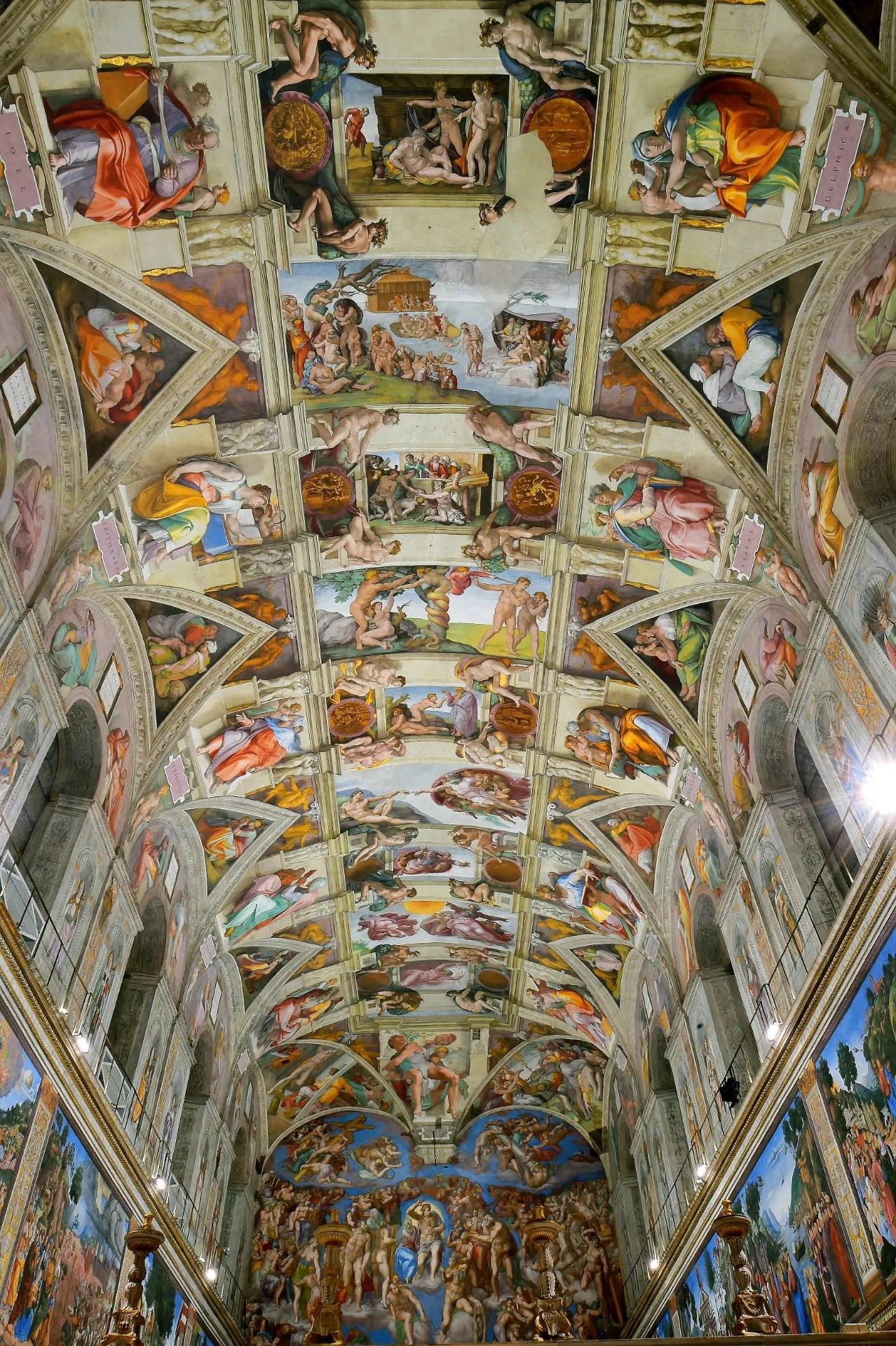 Le Plafond De La Chapelle Sixtine : plafond, chapelle, sixtine, Virtual, Sistine, Chapel, Online, Vogue, Paris