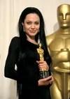 Angelina Jolie in black dress Oscar 2000