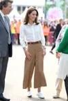 Kate Middleton with the tennis whites