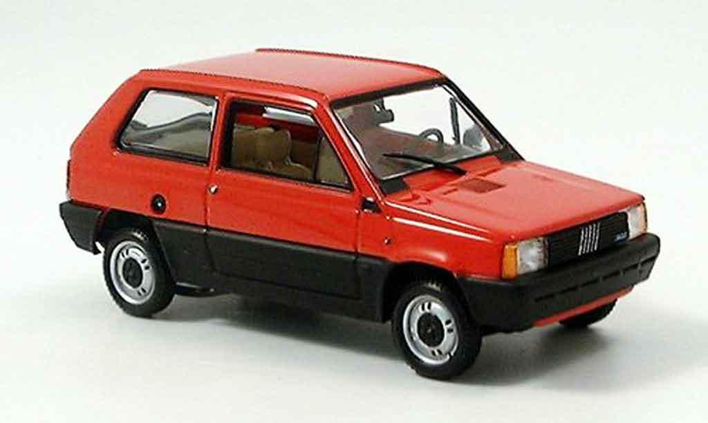 Fiat Panda Red 1980 Minichamps Diecast Model Car 143