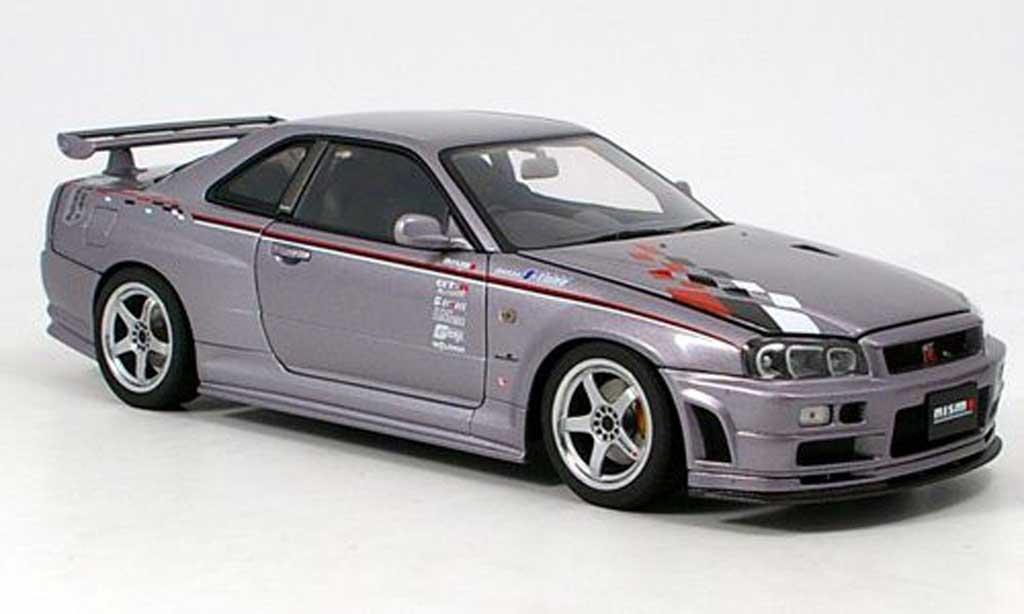 Modellino in miniatura Nissan Skyline R34 1/18 Autoart nismo sport version - Modellini-automobile.it