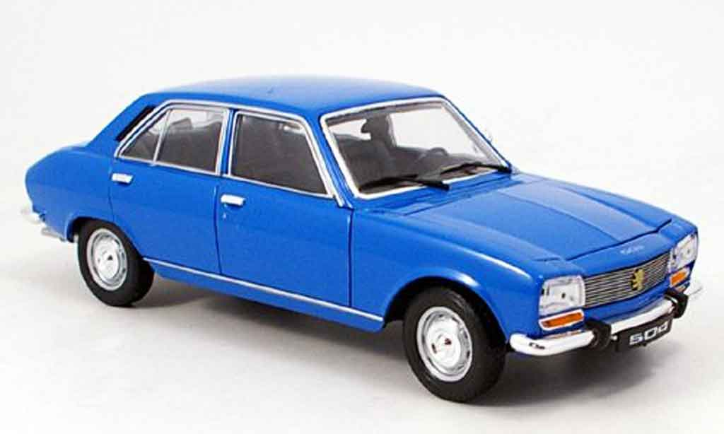Peugeot 504 Berline blue 1975 Welly diecast model car 1/18