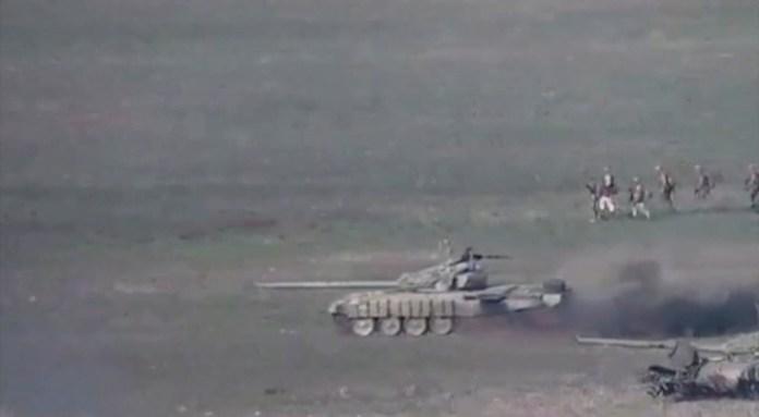 Fighting broke out between Armenia and Azerbaijan around the separatist Nagorno-Karabakh region