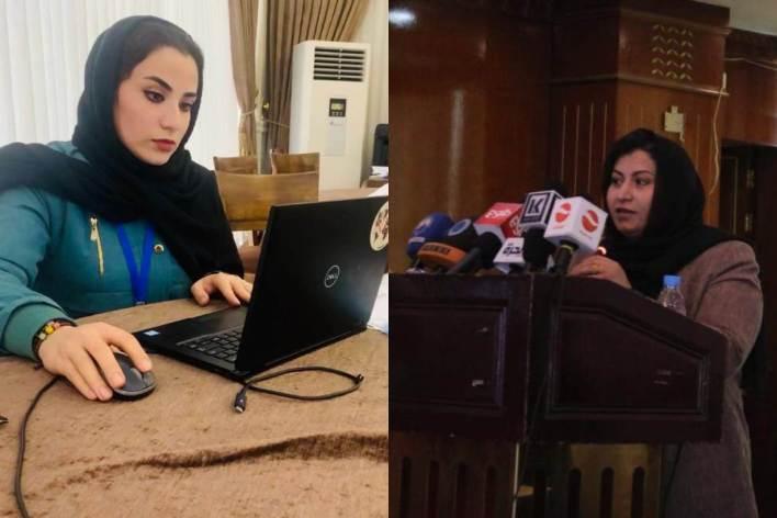 حميرة ساقب، هي المديرة التنفيذية لوكالة الأنباء -  وججان كافيه، هي باحثة في منظمة دولية