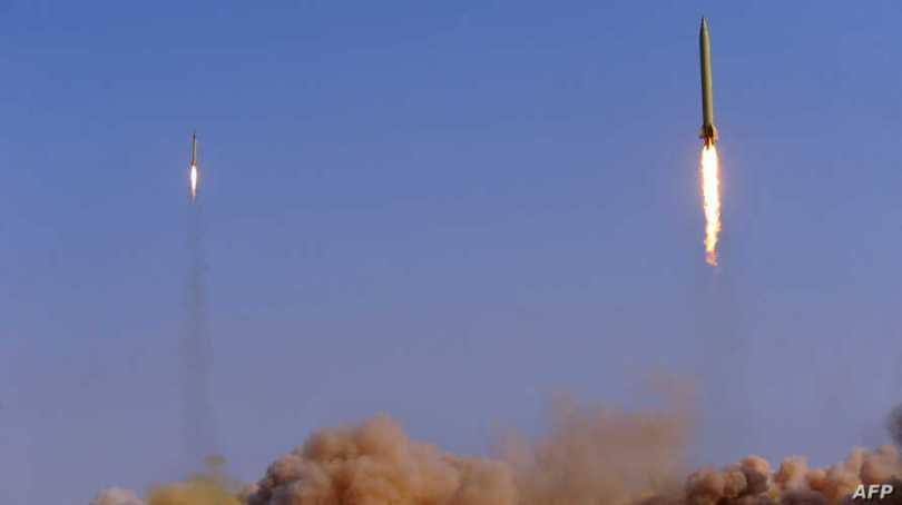 Missiles balistiques lancés par les gardiens de la révolution iraniens - Archive