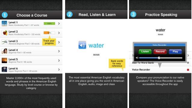 تطبيق Learn American English - Free WordPower لأجهزة آيفون وآيباد
