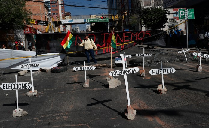 Clashes in Post-Election Dispute Shut down Much of Bolivia