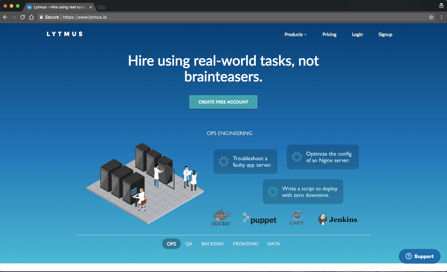 What Is This Tool For? Lytmus Helps Copanies Hire Developers For Web, Ops,  Qa, And Data Roles Using Real-World Tasks, Not Brainteasers.