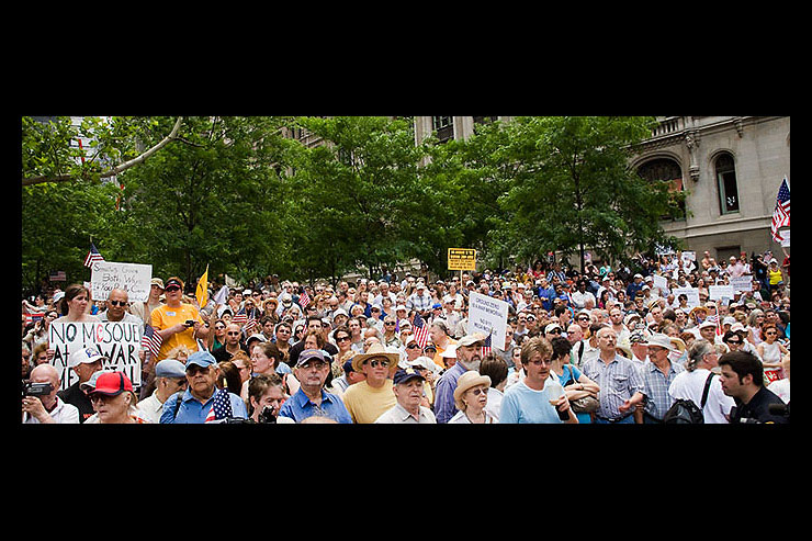 Thousands of additional participants filled the treed area of Zuccotti Park.