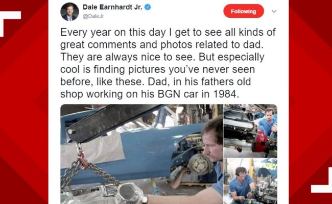Dale Earnhardt Jr Shares Rare Photos Of Father 18 Years