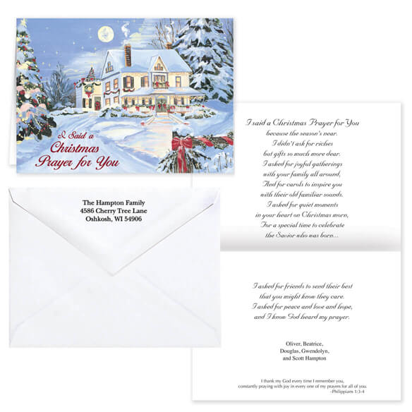 I Said A Christmas Prayer Religious Christmas Card Set Of