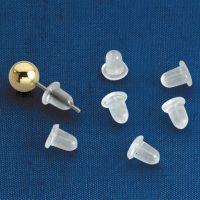 Clear Bullet Earring Backs - Rubber Earring Backs - Walter ...