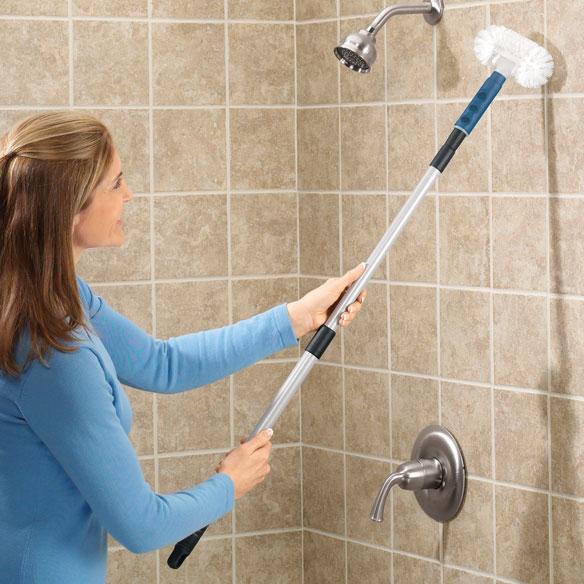 Bathroom Scrubber Brush Long Handle Bath Tub Cleaner Telescoping Shower Tile  eBay