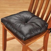 Faux Leather Chair Pad - Dining Chair Cushion - Walter Drake