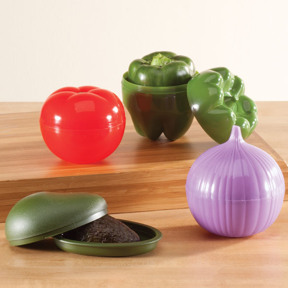 Vegetable Keepers Set Of 4 Storage Containers Walter Drake