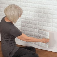 Faux Brick Wall Tile Decals - Brick Accent Wall - Walter Drake