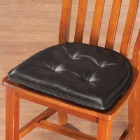 St. Germaine Faux Leather Chair Pad w/Gripper - Chair Pad ...