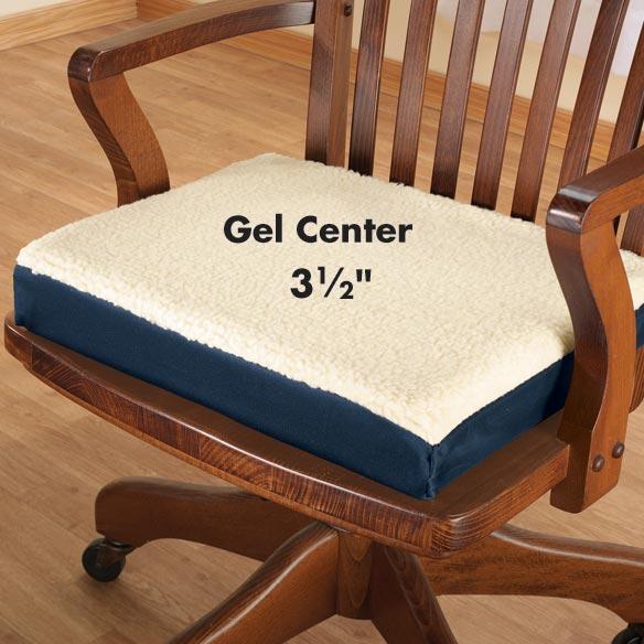 high back lawn chair cushions steelcase accessories gel seat cushion - pad walter drake
