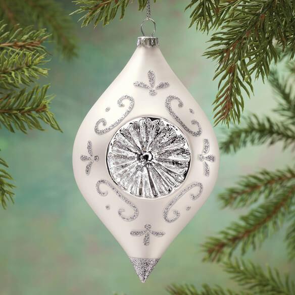 Personalized Birthstone Glass Reflector Ornament Walter