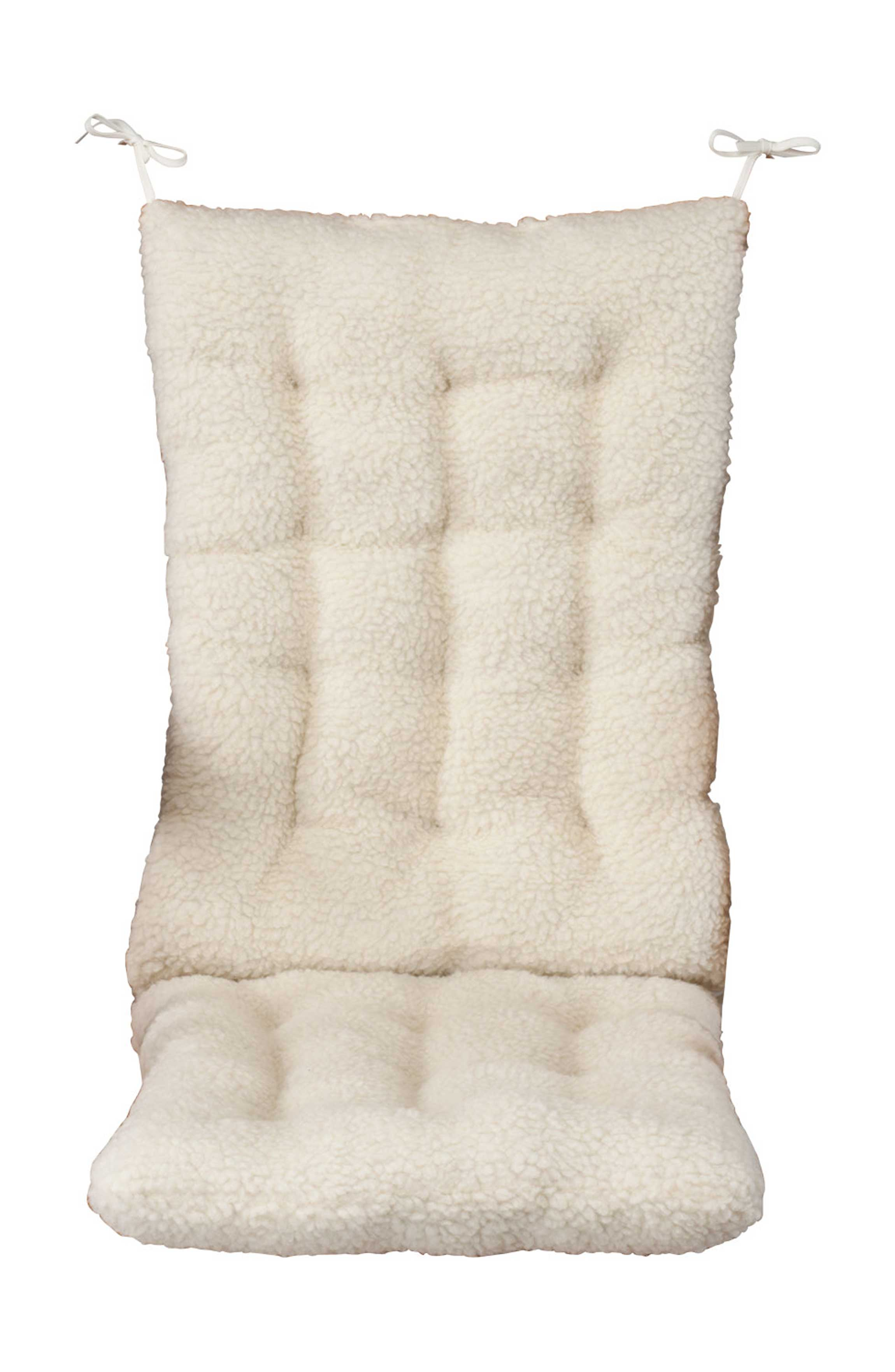rocking chair cushion covers staples turcotte luxura high back executive brown sherpa set by oakridgetm ebay