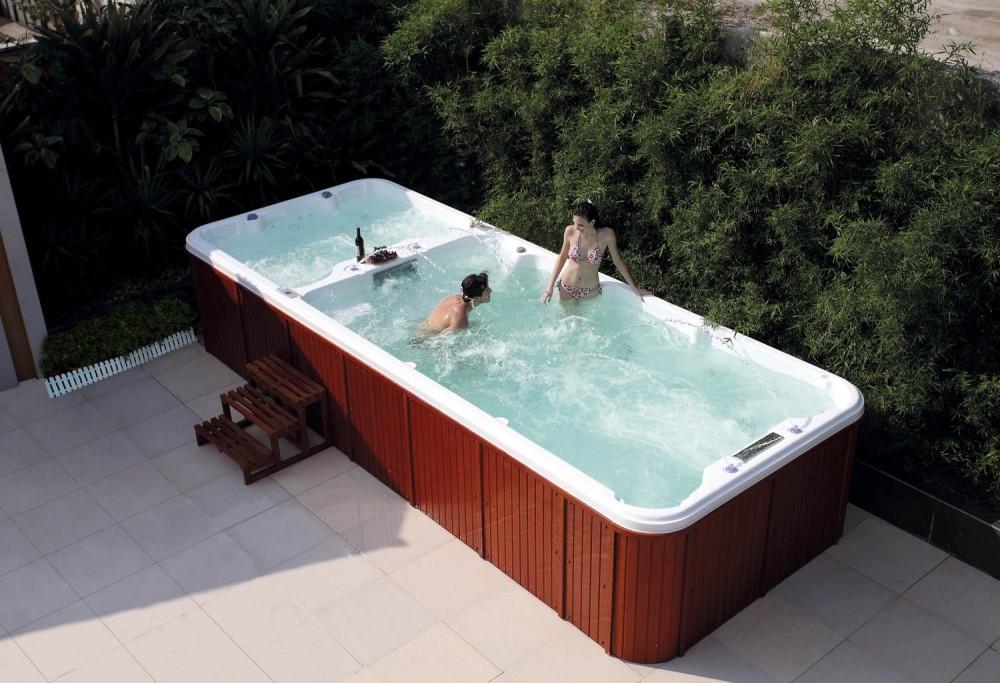 Piscina de hidromasaje swim spa AT004