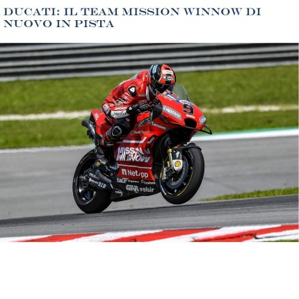 Ducati: Il team Mission Winnow