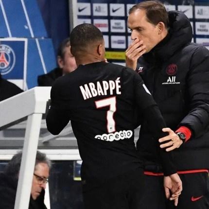 Mbappe litiga con Tuchel