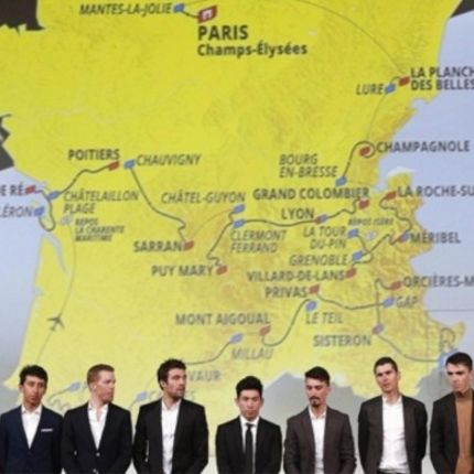 I corridori presenti al Tour
