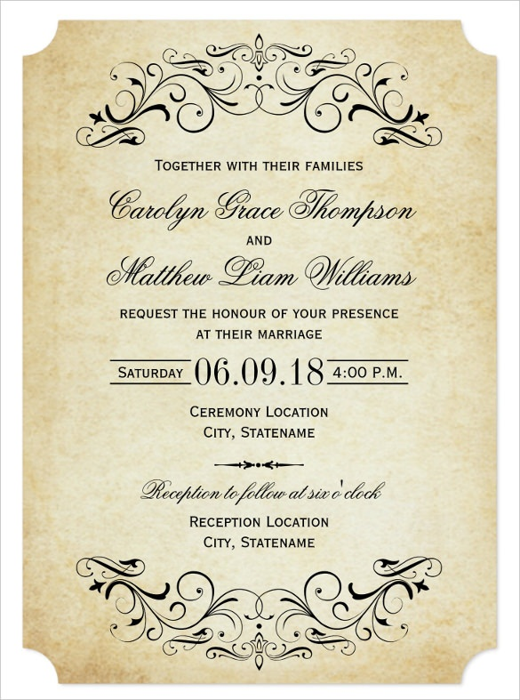 wedding invitation wording guideline