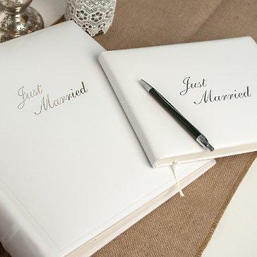 Fotoalbum zur Hochzeit in weiem Leder  weddixde