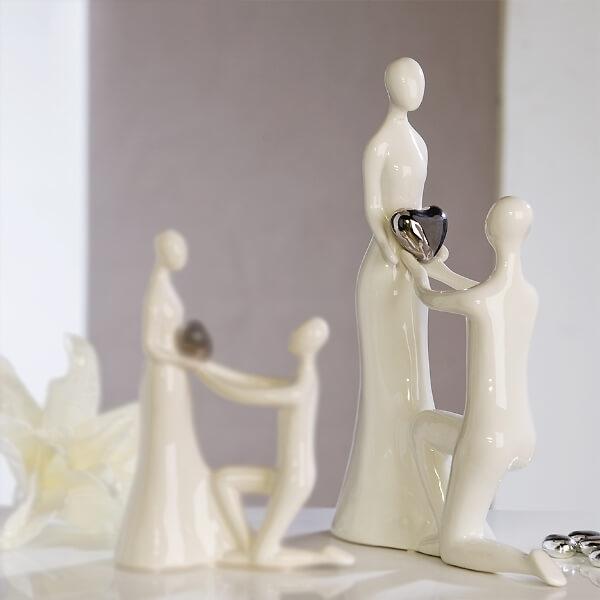 Dekofigur Keramik Heiratsantrag  romantische Dekofigur zum verschenken  weddixde