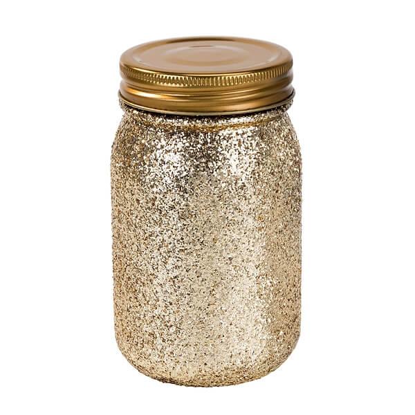 DekoGlas Glitter  glitzernde Hochzeitsdeko in Gold  weddixde
