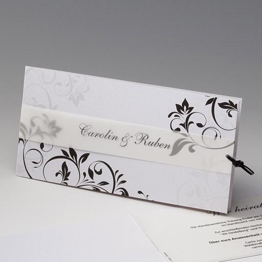 Hochzeitseinladungskarten in elegantem SchwarzWei