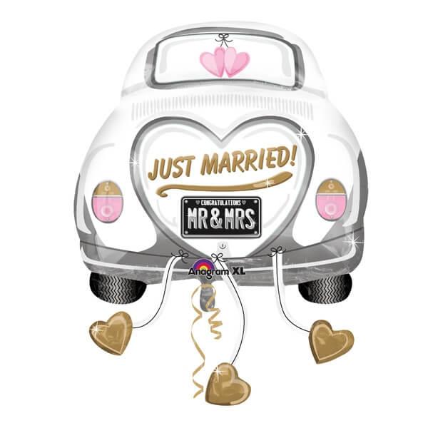 Folienballon Hochzeitsauto  Dekoration fr das