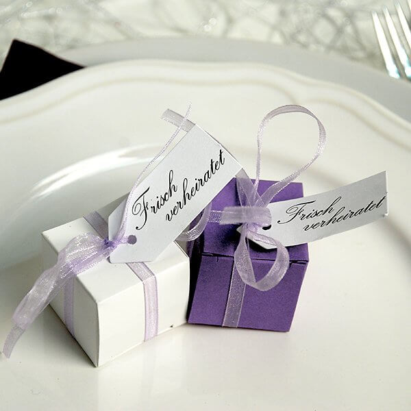 Gastgeschenk Hochzeit Hera  FliederLavendel  weddixde