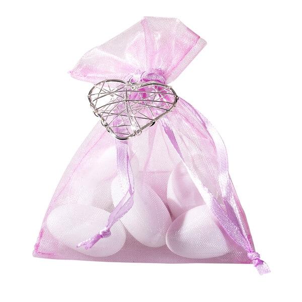 Gastgeschenk Harmonia rosa Hochzeitsmandeln fr die