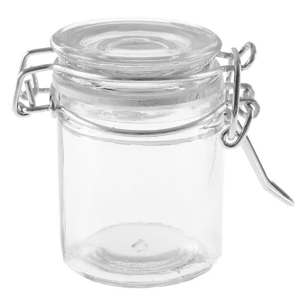 Glschen mit Bgelverschluss 4 St  Deko Glas fr