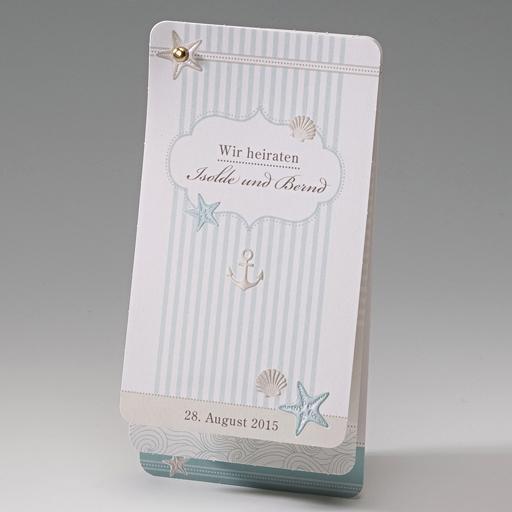 Einladungskarte Casey  Strandkarte zur Hochzeit weddix