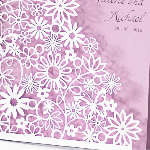 Hochzeitseinladung Dalia in PerlmuttFlieder  weddixde
