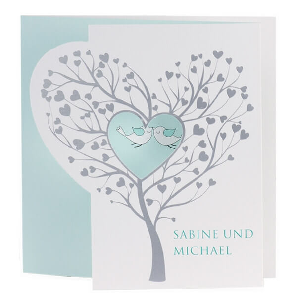 Einladungskarte Daniela  in Mint  weddixde