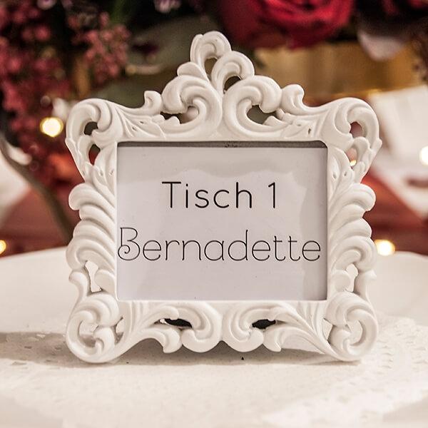 MiniFotorahmen Barock fr Platzkarten  weddixde
