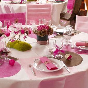 Platzsets Kreis rosa  50 Tischsets fr Hochzeitsdeko