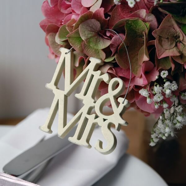 Schriftzug aus Holz Mr  Mrs  Hochzeitsdeko  weddixde